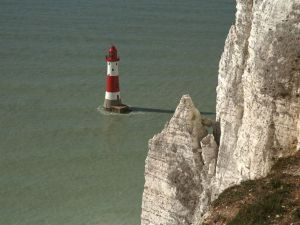 Lighthouse near the White Cliffs of Dover (England)