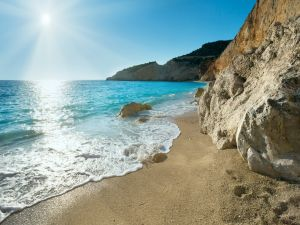 A beach in Lefkada (island), Greece
