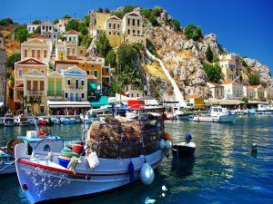 Port on the Greek island of Symi