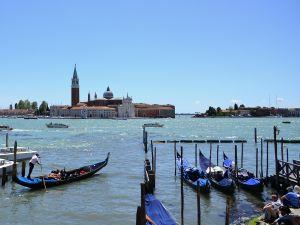 Venice and its gondolas