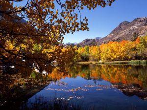 Eastern Sierra in autumn, California