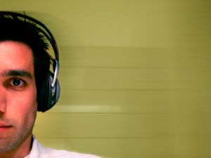 Listening music with headphones