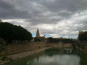 The Segura River in his pass through Murcia, Spain