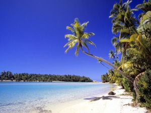 A beautiful beach in the Cook Islands