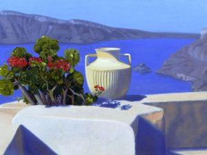 """Morning offering santorini"" by James Childs"