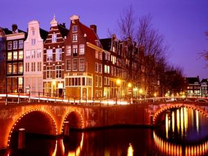 Night in Amsterdam, Netherlands