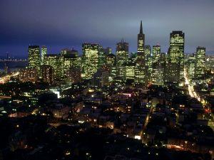 City Lights of San Francisco, California