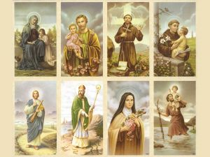 Christian holy cards