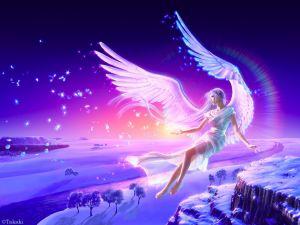Delicate fantasy angel