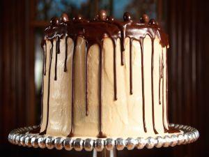 Cake of coffee and chocolate
