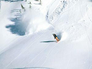 Snowboarding at Brighton Ski Resort (Utah, USA)