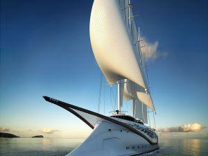 Modern Phoenician sailing yacht