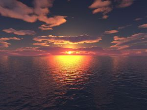 A point of light on the horizon