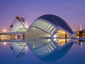 L'Hemisfèric in the City of Arts and Sciences (Valencia, Spain)