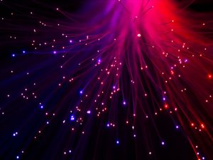 Light escaping from the fiber optic