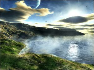 Natural landscape of another planet