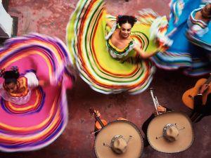 Mexican regional dance, in Yucatan, Mexico