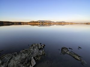 Orellana Reservoir, in Badajoz, Spain