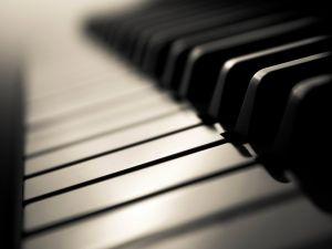 Classical piano keyboard