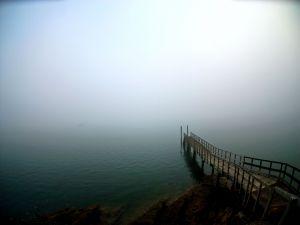 Pier toward the fog