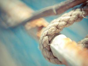 A sturdy hemp rope