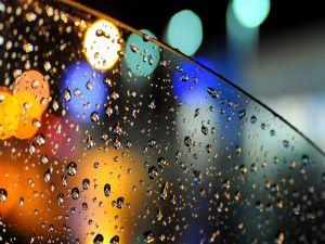 Rain drops on the car window