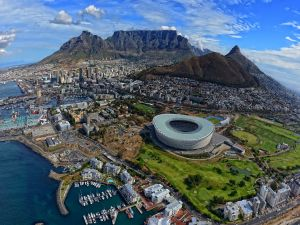 Green Point Stadium, in Cape Town, South Africa