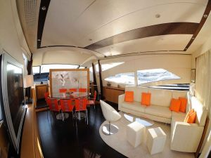 Interior of a luxury yacht