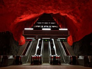 """Solna centrum"" metro station, Stockholm, Sweden"