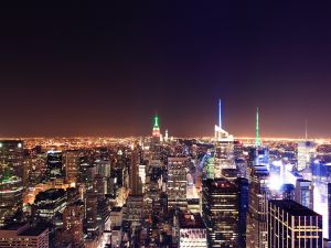 "A nightly vision of New York City taken from the ""Top of the Rock"""