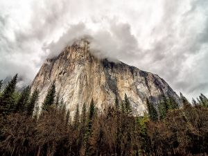 El Capitan, a vertical rock formation in Yosemite National Park, California