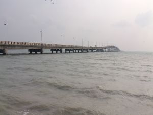 A long bridge over the sea