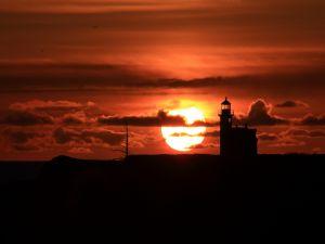 Cape Arago Light, located in Charleston, Oregon