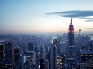 """View from the """"Top of the Rock"""", Rockefeller Center, New York City"""