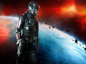 Suit N7 of Mass Effect in Dead Space 3