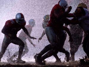 American Football under the rain