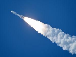 Atlas V rocket carrying the Juno spacecraft bound for Jupiter