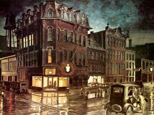 Rainy Night, by Charles Burchfield