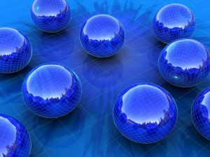 Blue spheres