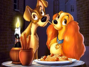 Lady and the Tramp, romantic dinner
