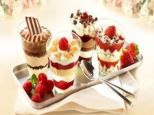 Delicious assorted desserts