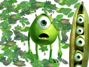 Mike Wazowski (Monsters, Inc.) is a pea?