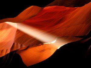 Light seeping between the rock, Antelope Canyon, Arizona