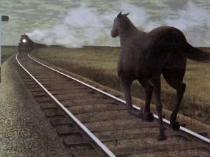 Horse and Train (1954), by Alex Colville