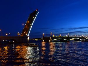 Drawbridge in St. Petersburg, Russia