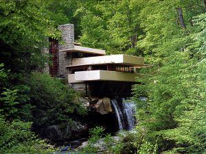 Fallingwater (Kaufmann Residence), designed by architect Frank Lloyd Wright