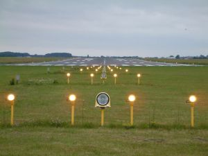 Lights on the airstrip
