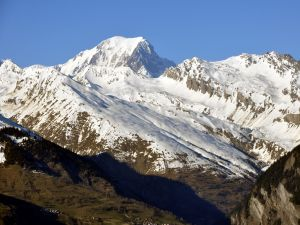 The Mont Blanc seen from Montchavin, Les Coches, France