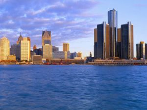 Sunrise at Detroit, Michigan