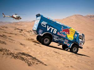 Kamaz truck through the dunes of Dakar Rally